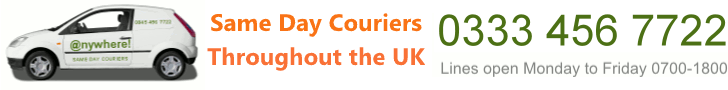 Click Here for Same Day Courier prices